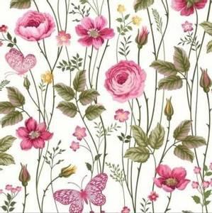 Bilde av Bomullsjersey Elle blomster