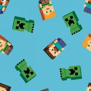 Bilde av Bomull stoff med Minecraft Friends