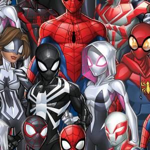 Bilde av Bomull stoff med Marvel Spiderman