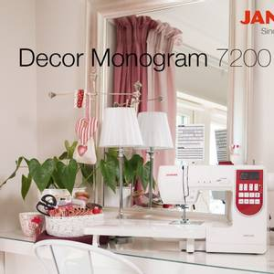 Bilde av JANOME DECOR MONOGRAM 7200