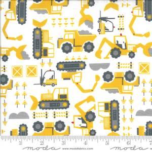 Bilde av Moda Fabrics On The Go Grass Anleggsmaskin stoff