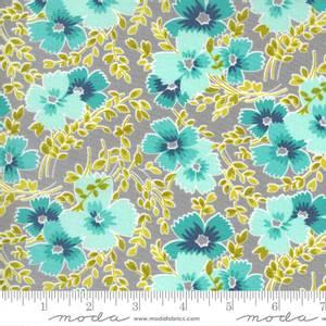 Bilde av Moda fabrics Flowers For Freya Foggy blomster