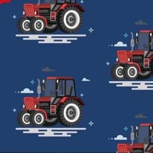 Bilde av Bomullsjersey med traktor