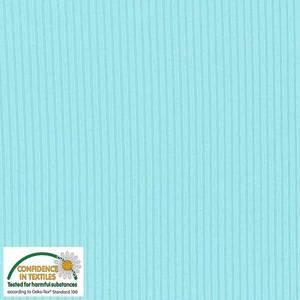 Bilde av Beklednings myk ribbet Viskose jersey lys turkis