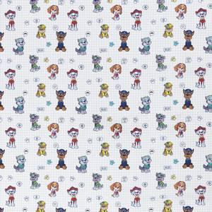 Bilde av Disney Bomull stoff med Paw Patrol Chase hvit